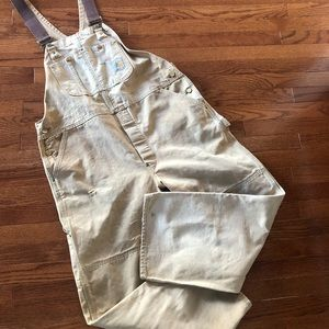 Carhartt Vintage 100 Years Overalls Tan Size 42
